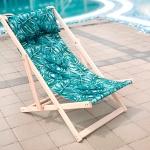 купить Шезлонг складной для пляжа и бассейна Листья цена, отзывы