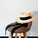 купить Соломенная шляпа канотье с завязками цена, отзывы