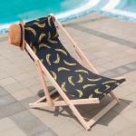 купить Шезлонг складной для пляжа и бассейна Бананы цена, отзывы