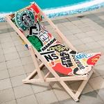 купить Шезлонг складной для пляжа и бассейна Стикеры цена, отзывы