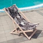купить Шезлонг складной для пляжа и бассейна Ночь в тропиках цена, отзывы