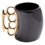 купить Чашка кастет Black с золотой ручкой цена, отзывы