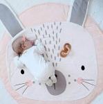 купить Одеяло коврик в детскую комнату Розовый Зайка цена, отзывы