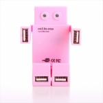 фото 23100  USB хаб Робот розовый цена, отзывы