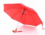купить Зонт с деревянной ручкой голова утки (Красный) цена, отзывы