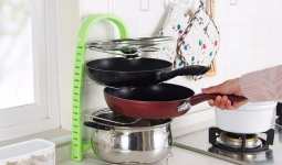купить Подставка для сковородок, крышек, тарелок, кастрюль (Зеленый) цена, отзывы