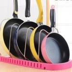 купить Подставка для сковородок, крышек, тарелок, кастрюль (Розовый) цена, отзывы