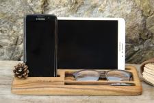 купить Подставка для телефона и планшета из дерева Офисный набор цена, отзывы