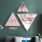 купить Модульная треугольная картина 3 в 1 Life is short цена, отзывы
