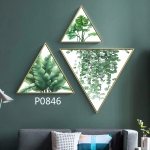 купить Модульная треугольная картина 3 в 1 Бамбуковые Листья цена, отзывы