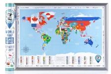 купить Скретч карта мира flags edition на английском языке цена, отзывы