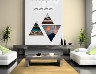 купить Модульная треугольная картина 3 в 1 Солнце в зените цена, отзывы