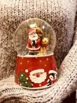 купить Водяной шар Музыкальный Дед Мороз на санях цена, отзывы