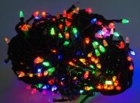 купить Гирлянда светодиодная LED 400 мультиколор черный провод цена, отзывы