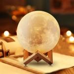 купить Ночник светильник луна Moon Light 3D 15 см цена, отзывы