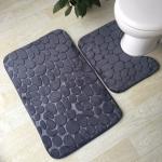 купить Набор ковриков в ванную комнату Камушки 3 шт цена, отзывы