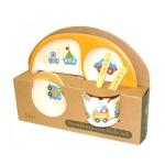 купить Детская бамбуковая посуда 3 в 1 Кораблик (оранжевый) цена, отзывы