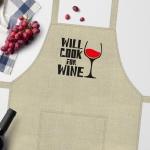 купить Фартук  Will cook for wine цена, отзывы