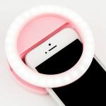 купить Подсветка кольцо для селфи pink цена, отзывы