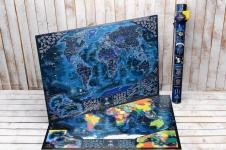 купить Морская Скретч карта My Maps edition на Английском в тубусе + постер с флагами цена, отзывы