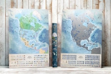 купить Светящаяся Скретч карта Северной Америки на Английском в тубусе цена, отзывы