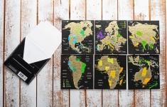 купить Набор Скретч Открытка Карта Мира в конверте цена, отзывы