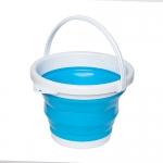 купить Ведро складное круглое синий 10л цена, отзывы