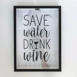 купить Копилка для винных пробок Береги воду,пей вино цена, отзывы