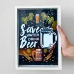 купить Копилка для пивных крышек Береги природу, пей пиво цена, отзывы