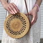 купить Плетенная сумка Солнце 20 см  цена, отзывы