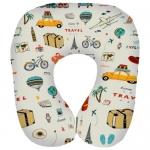 купить Подушка для путешествий дорожная с принтом Путешествия цена, отзывы