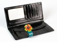 фото 8775  Женский кошелек Венок черный цена, отзывы