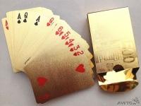 фото 3043  Карты игральные покерные 100 долларов золото цена, отзывы