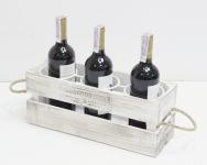 фото 7073  Подставка для вина ящик на 3 бутылки цена, отзывы