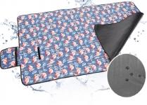 фото 24910  Коврик для пикника Фламинго синий цена, отзывы