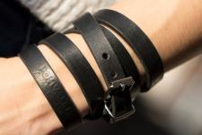 фото 9422  Антический кожаный браслет Barry цена, отзывы