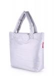фото 4070  Болоньевая сумка на синтепоне серебряная Pool цена, отзывы