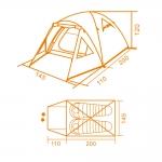 фото 7223  Палатка походная Двухместная  цена, отзывы