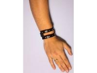 фото 9461  Кожаный браслет HOLE с кобурной кнопкой цена, отзывы