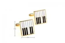 фото 6841  Запонки Клавиши рояля gold цена, отзывы