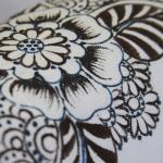 фото 8930  Кот Мартовский с росписью цветы синие цена, отзывы