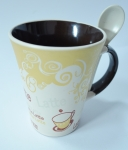 фото 2116  Чашка c ложкой Латте цена, отзывы