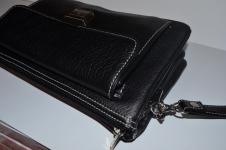 фото 1522  Барсетка кожаная мужская Black 111 цена, отзывы