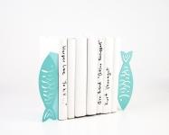 фото 10042  Держатель для книг Рыбы цветло-бирюзовые цена, отзывы