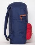 фото 8094  Рюкзак GiN Bronx синий с красным карманом цена, отзывы