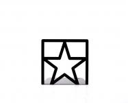 фото 9887  Держатель для книг Звезда черная цена, отзывы