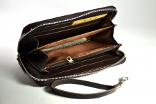 фото 4224  Кошелек клатч коричневый цена, отзывы