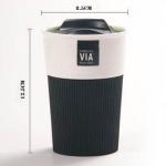 фото 4463  Керамическая чашка с крышкой и съемным чехлом VIA. STARBUCKS  цена, отзывы