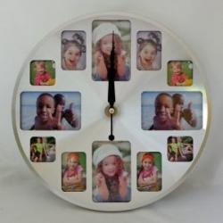 купить Часы средние круглые 12 фоторамок 30 см цена, отзывы