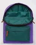 фото 8099  Рюкзак GiN Bronx сиреневый с зеленым карманом цена, отзывы